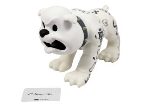 Lot #5739 – Cote Escriva x Thunder Mates Creepy Dog White Version Figure Art Toys Cote Escriva