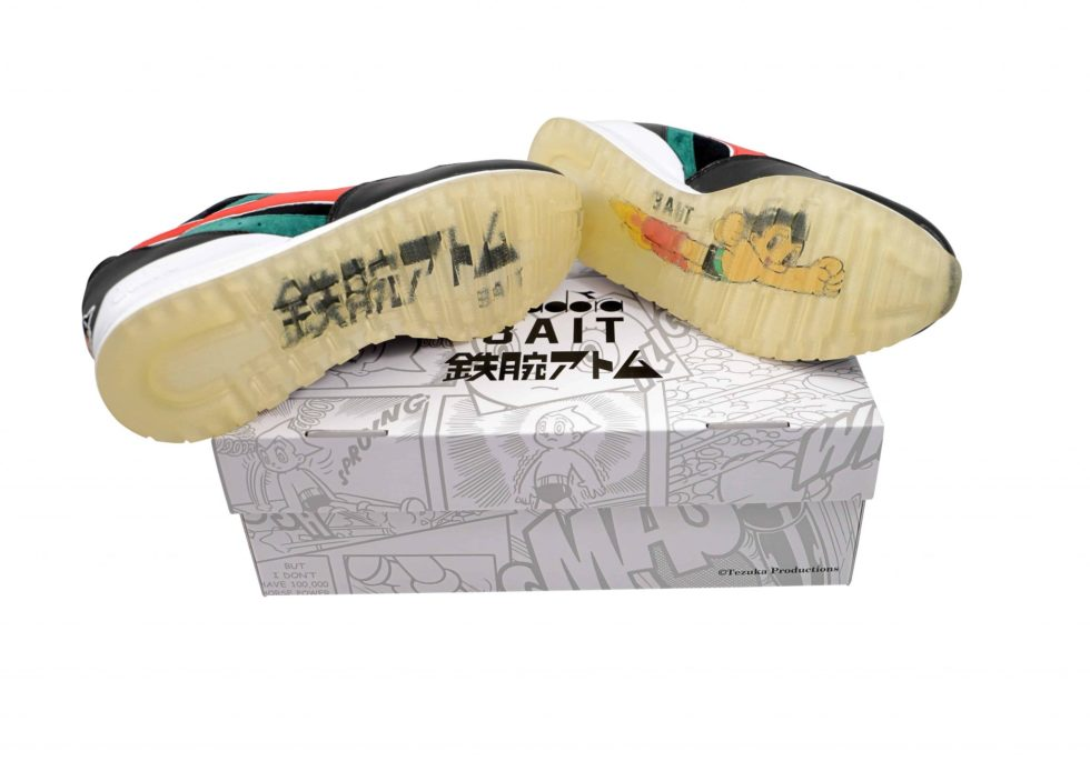 Lot #8624 – Diadora Intrepid x Astro Boy x Bait Sneakers Size 10 Various Astro Boy