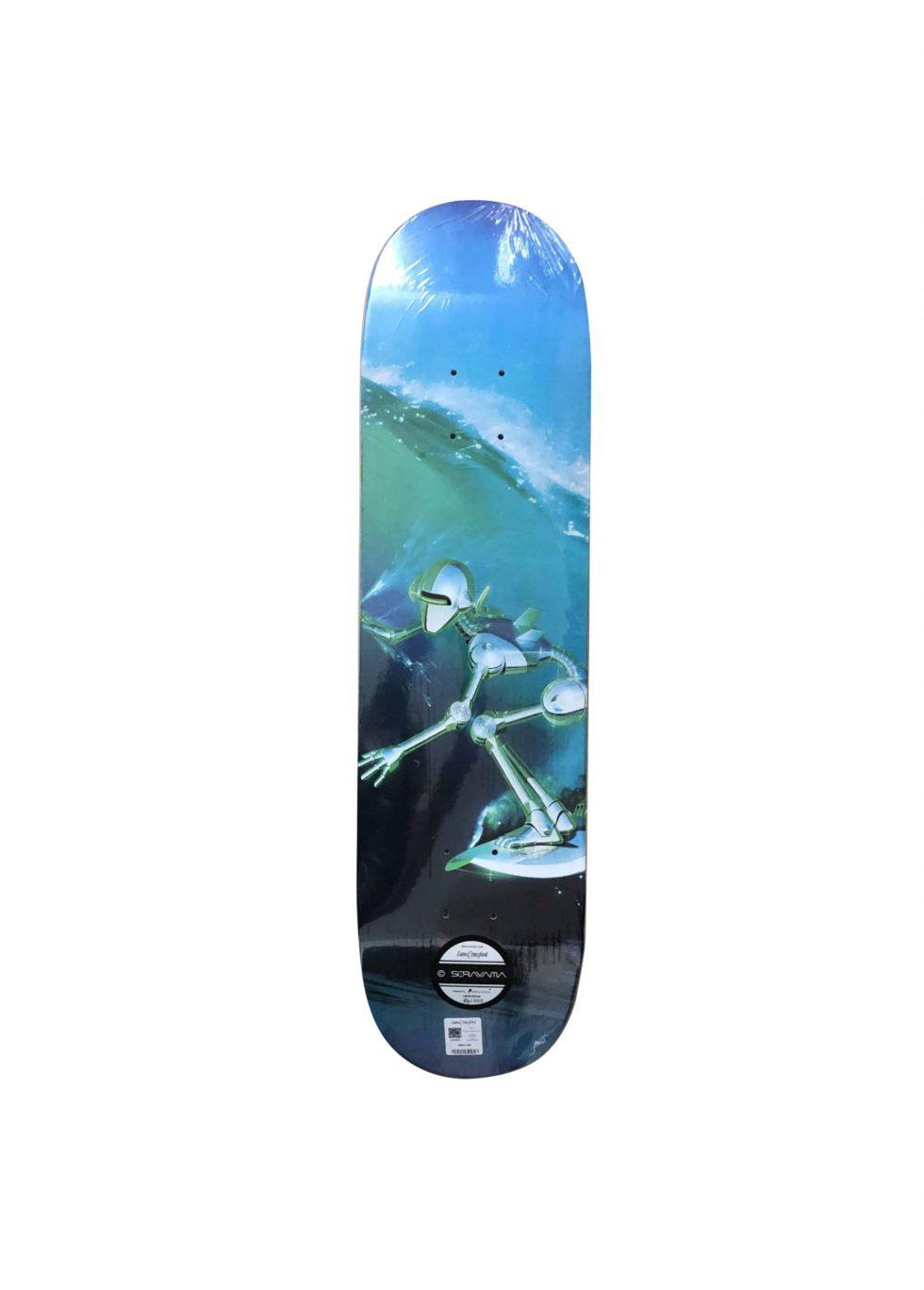 Lot #9729 –  Hajime Sorayama Surfer Robot Skateboard Skate Deck Skateboard Decks [tag]
