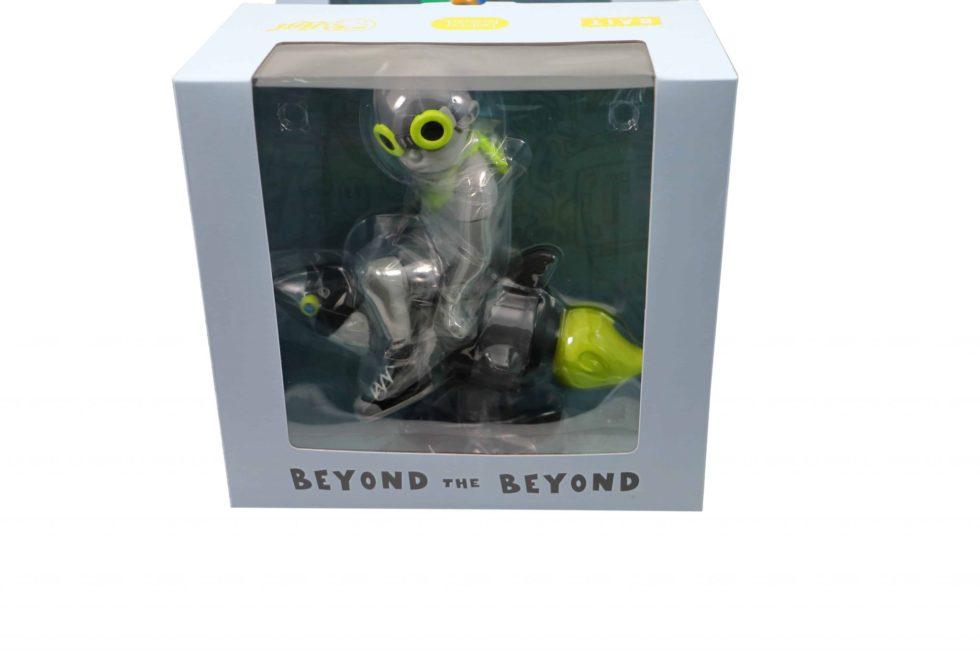 Lot #5229 – Hebru Brantley Fly Boy Rocket Grey Volt Figure Art Toys Hebru Brantley