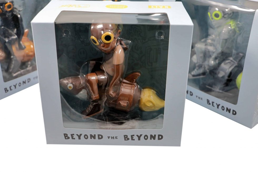 Lot #9901 – Hebru Brantley Fly Boy Rocket Figure Set of 5 Art Toys Hebru Brantley