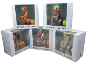 Lot #6035 – Hebru Brantley Fly Boy Rocket Set of 5 Figures Art Toys Hebru Brantley