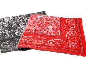 Hebru Brantley x BBC Billionaire Boys Club Bandana Black Red Set