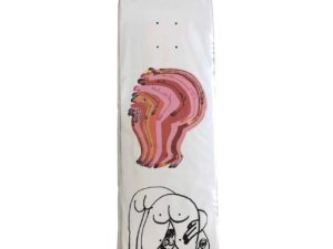 Lot #9841 – Jeffrey Cheung Hand Embellished Pancake Skateboard Skate Deck Jeffrey Cheung Jeffrey Cheung