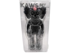 Lot #9087 – KAWS BFF Black Vinyl Figure Sealed Art Toys [tag]