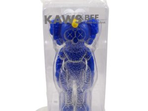 Lot #9056 – KAWS BFF Blue Vinyl Sculpture Sealed Art Toys KAWS