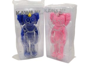 KAWS BFF Vinyl Set Pink Blue