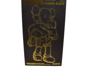 Lot #5203 – KAWS Clean Slate Black Vinyl Figure Art Toys KAWS