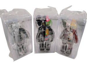 Lot #9888 – KAWS Companion Flayed Vinyl 3 Figure Set Brown, Grey, Black Art Toys KAWS