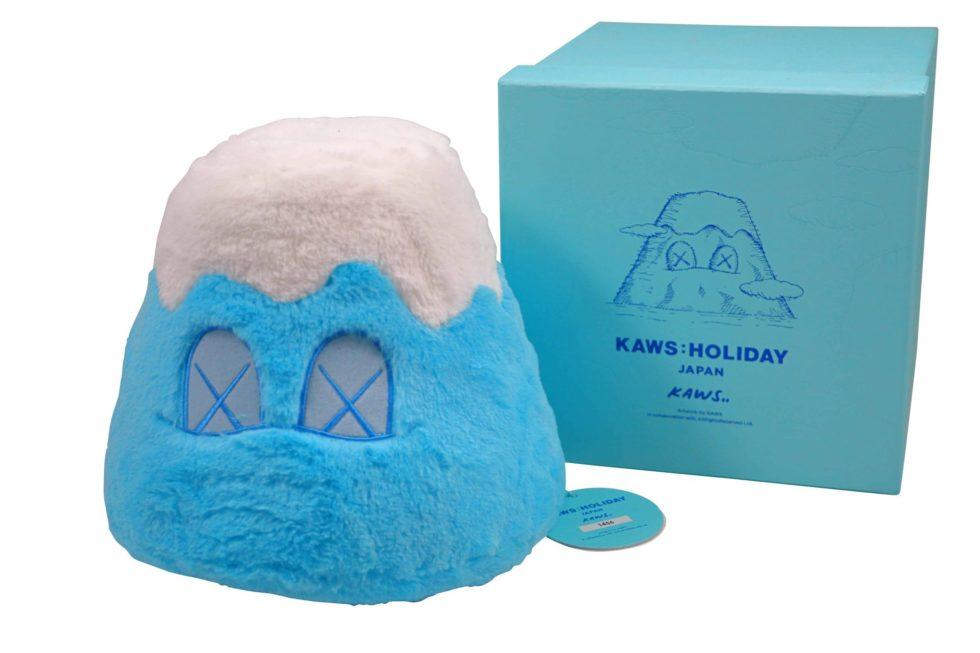 Lot #7092 – KAWS Holiday Japan Mount Fuji Plush Blue Art Toys KAWS