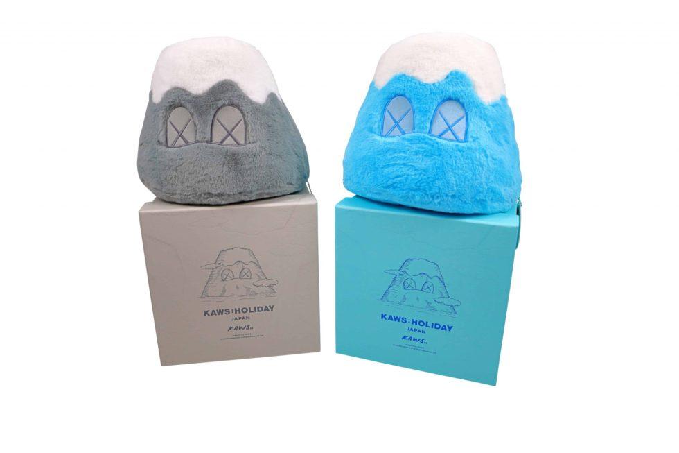 Lot #4039 – KAWS Holiday Japan Mount Fuji 2 Plush Set Grey and Blue [category] KAWS