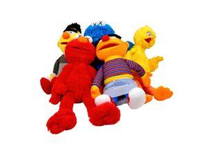 Lot #5804 – KAWS x Sesame Street 5 Plush Figure Set Art Toys [tag]