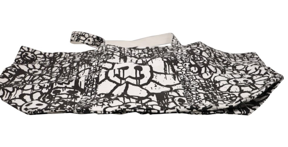 Lot #8578 – Madsaki x Takashi Murakami ComplexCon Signed Flower Tote Bag Bags Madsaki