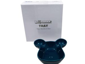 Lot #5728 – Medicom Bearbrick Tray Plate Bowl Blue Various Medicom