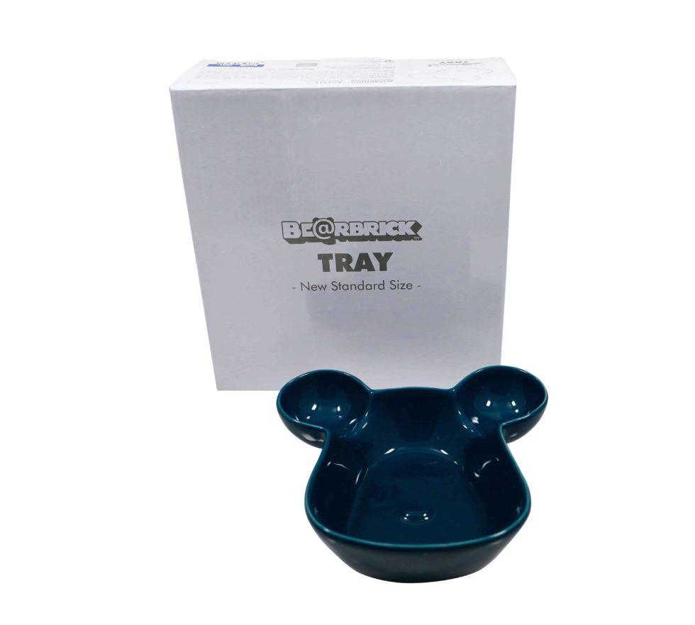 Lot #8631 – Bearbrick Tray Plate Bowl Blue Medicom Toy Rarities Medicom