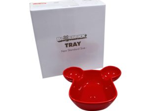 Lot #8632 – Bearbrick Tray Plate Bowl Red Medicom Toys Various Medicom