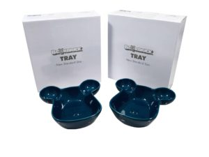 Lot #9117 – Medicom Bearbrick Tray Plate Bowl Set of 2 Blue Various Medicom