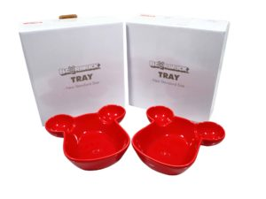 Lot #5230 – Medicom Bearbrick 2 Tray Plate Bowl Set Red Art Toys Medicom