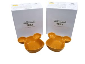 Lot #9116 – Medicom Bearbrick Plate Bowl Tray Set of 2 Yellow Various Medicom