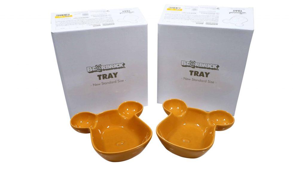 Lot #5189 – Medicom Be@rbrick Plate Bowl Tray Set of 2 Yellow [category] Medicom