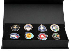 Lot #9255A – Omega Speedmaster 50th Anniversary Apollo Moon 8 Pin Set Rarities Omega Speedmaster