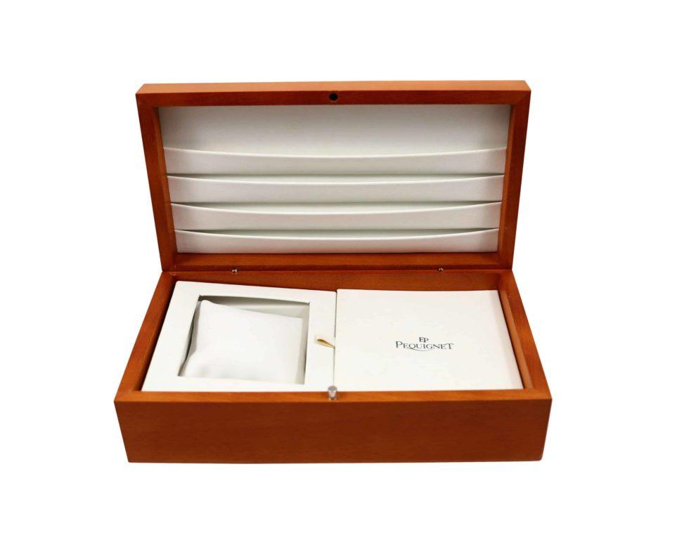 Lot #4825A – Pequignet Watch Large Box Watch Parts & Boxes Pequignet