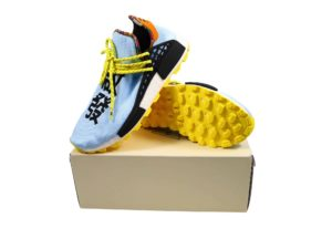 Lot #5724 – Pharrell Williams x Adidas PW Solar HU NMD Size 10 Various [tag]