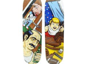 Lot #7242 – Sean Cliver x Supreme Skateboard Sugar Rush & Motel Hell Skate Date Set Skateboard Decks Sean Cliver