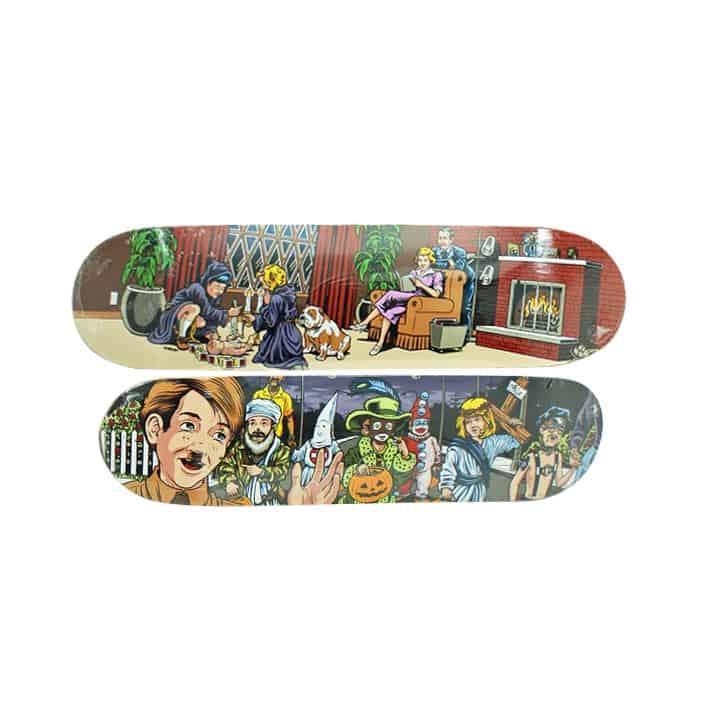 Lot #7252 – Sean Cliver x Supreme Skateboard Ritual & Halloween Skate Deck Set Skateboard Decks Sean Cliver