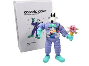 Lot #9378 – Steve Harrington X BBC Ice Cream Cosmic Cone Mello Vinyl Figure Art Toys Steve Harrington