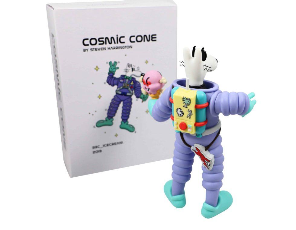 Lot #7206 – Steve Harrington X BBC Ice Cream Cosmic Cone Mello Vinyl Figure Art Toys Steve Harrington