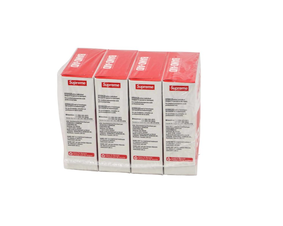 Lot #7193 – Supreme x Band Aid Adhesive Bandages 4 Box Pack [category] [tag]