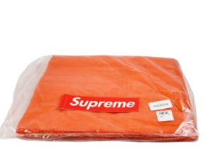 Lot #8555 – Supreme x Woolrich Wool Throw Blanket Orange Various Supreme x Woolrich