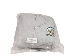 Lot #8560 – Takashi Murakami x ComplexCon Eyes Zip Hoodie Grey XL Various [tag]