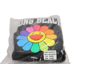 Lot #7095 – Takashi Murakami x ComplexCon Flower Long Beach Hoody XL Various [tag]