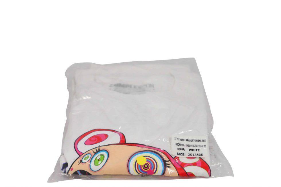 Lot #8568 – Takashi Murakami x ComplexCon Graduated Tee 2XL White Various [tag]
