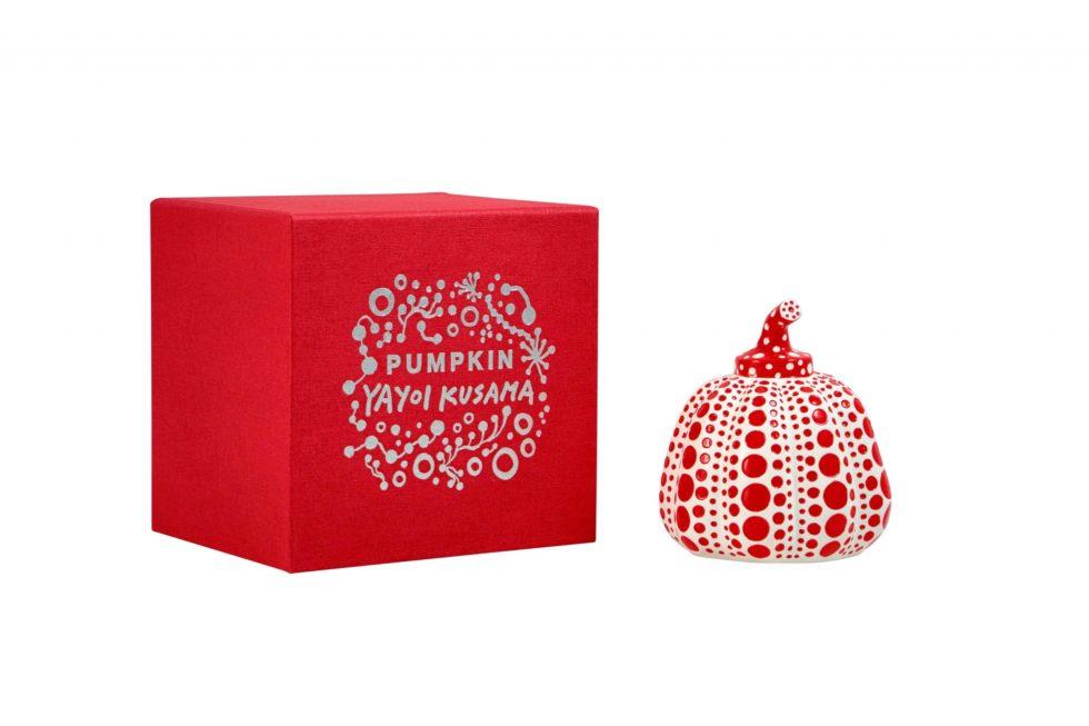 Lot #5183 – Yayoi Kusama Pumpkin Sculpture Red White Art [tag]