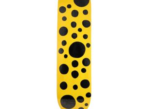 Lot #8584 – Yayoi Kusama Yellow Dots Big Skateboard Skate Deck Skateboard Decks [tag]