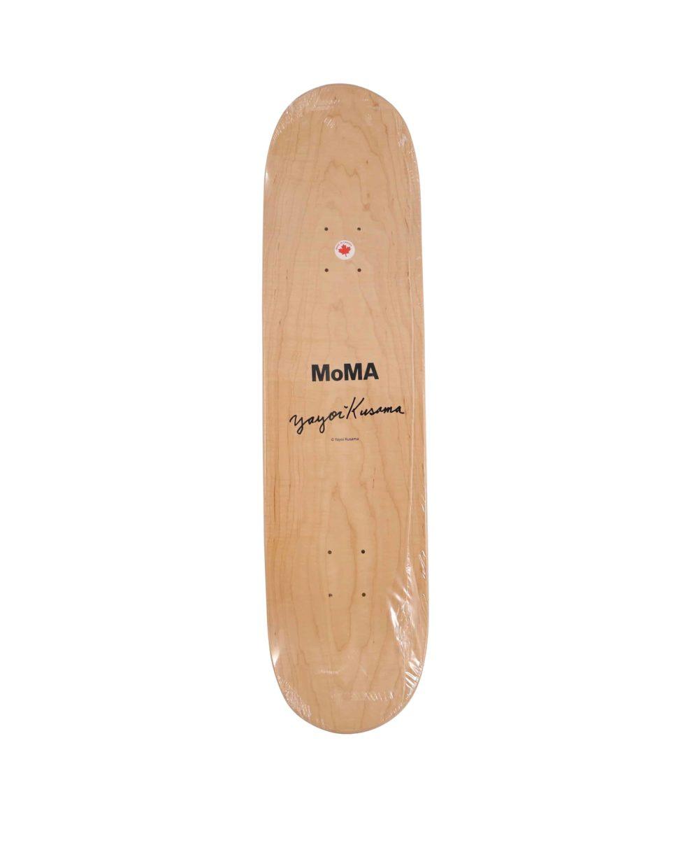 Lot #9830 – Yayoi Kusama Yellow Dots Small Skateboard Skate Deck Skateboard Decks [tag]