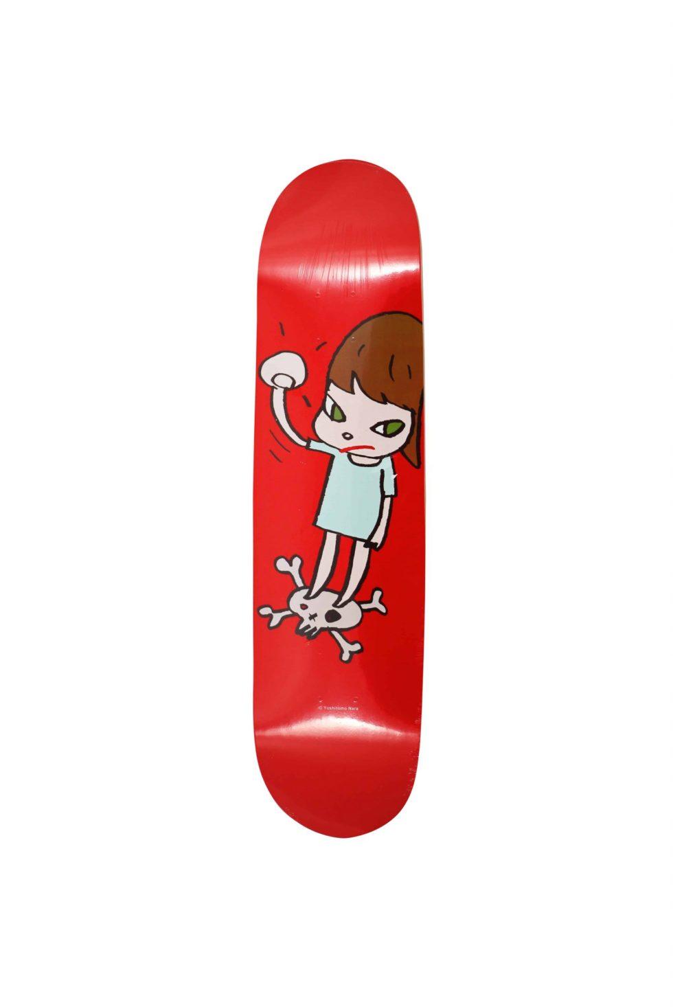 Lot #9833 – Yoshitomo Nara Solid Fist Skateboard Skate Deck Skateboard Decks Yoshitomo Nara