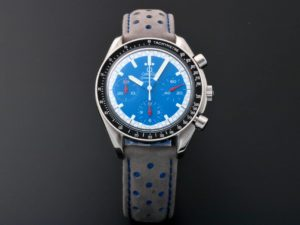 Lot #5663 – Omega Speedmaster Reduced Schumacher Blue Watch 3510.81 Omega Omega 3510.81.00