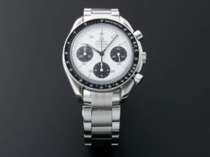 Lot #6760 – Rare and Unusual Omega Speedmaster Marui White Dial Watch 3539.31 Omega Omega 1553/939