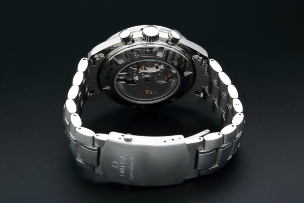 Lot #7747 – Omega Speedmaster Broad Arrow GMT Watch 3581.50 Omega Chronograph