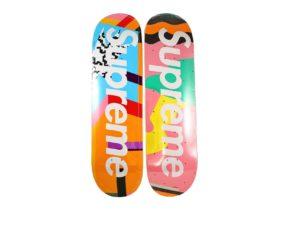 Lot #4239 – Alessandro Mendini x Supreme Skateboard Deck Set Skateboard Decks Alessandro Mendini Skate Decks