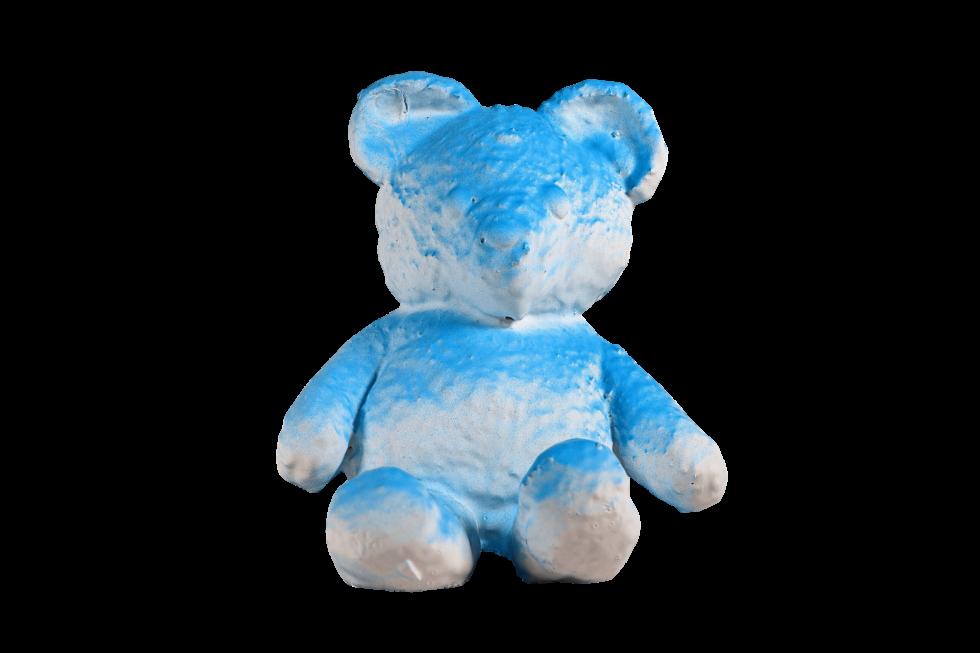 Lot #5185 – Daniel Arsham Cracked Bear Blue Limited Edition Art Toys Daniel Arsham Cracked Bear