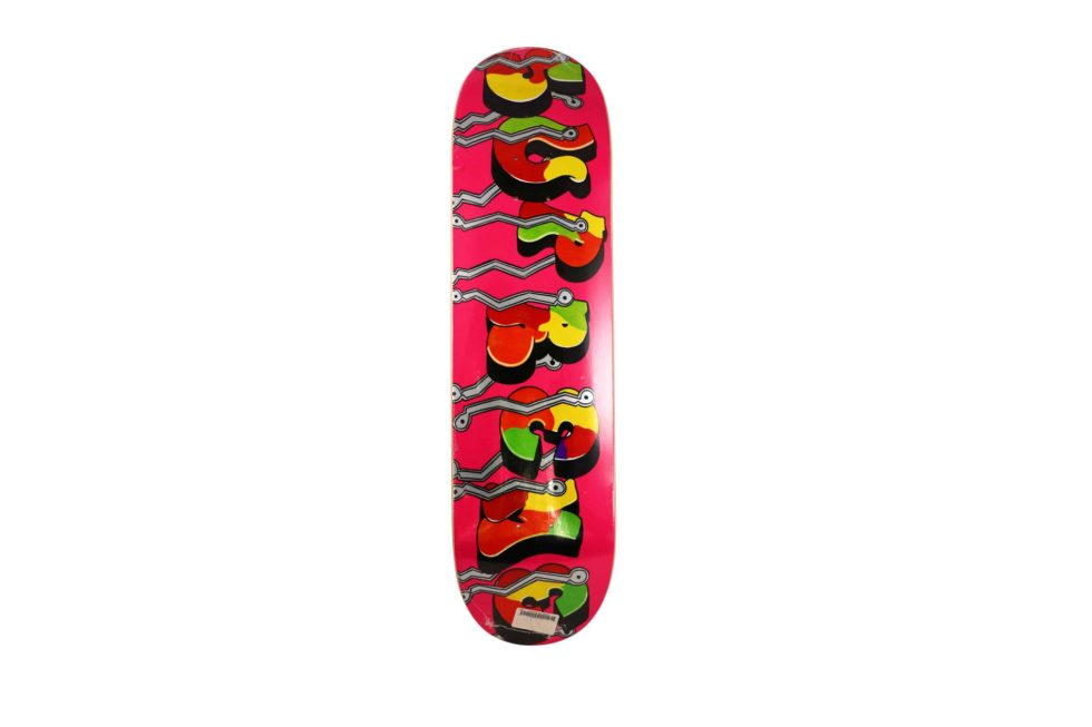 Lot #7274 – Blade x Supreme Whole Car Pink Skateboard Deck Skateboard Decks Skateboard Deck