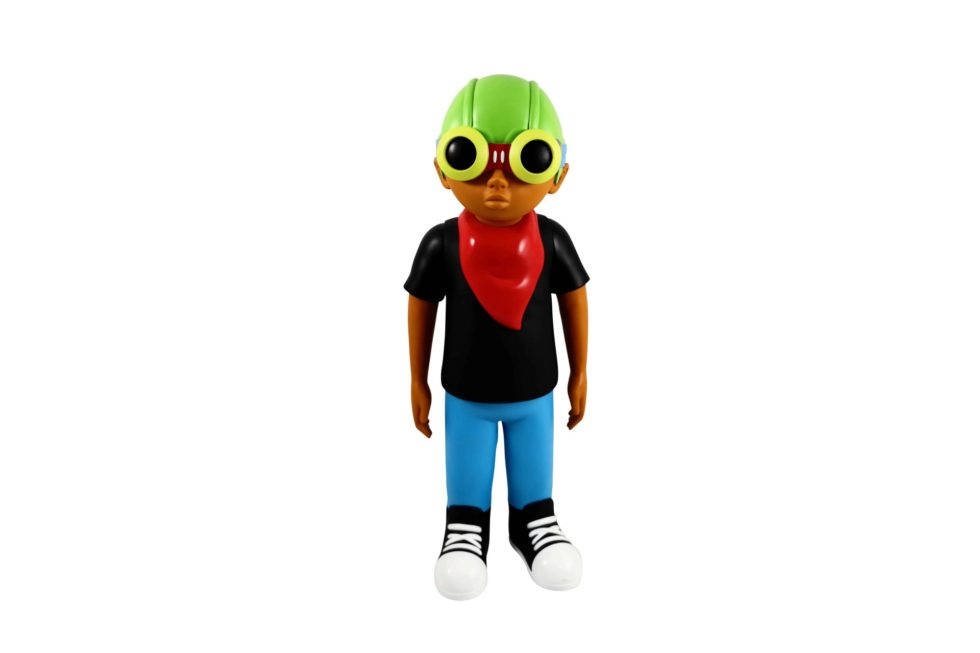 Lot #5204 – Hebru Brantley x Mindstyle 18in Fly Boy Vinyl Figure Art Toys Fly Boy