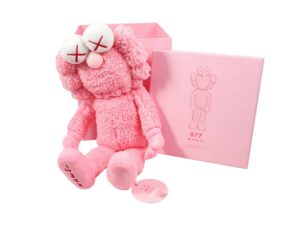 Lot #9896 – KAWS BFF Plush Pink with Original Box and Numbered Hang Tag Art Toys KAWS
