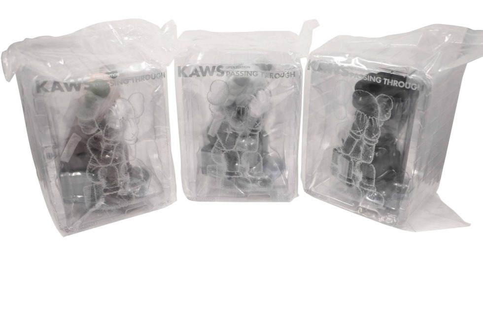 Lot #8732– KAWS Passing Through Vinyl Figures Set of 3 Art Toys KAWS