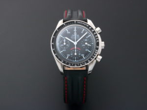 Lot #5624 – Limited Edition Omega Speedmaster A.C. Milan Watch 3810.51.41 Omega Omega 3510.51.00